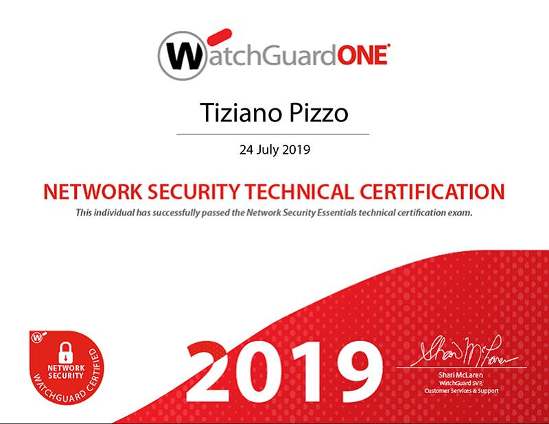 Certificato Watchguard Network Security