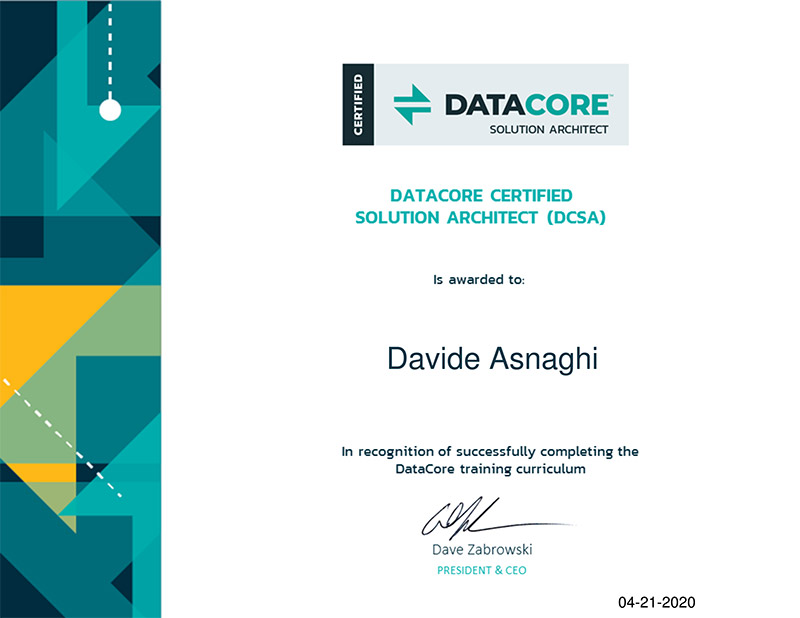 DCSA Datacore Certified Solution Architect